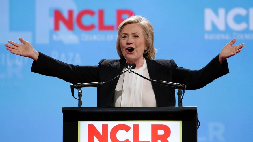 Presidential candidate Hillary Clinton at the National Council of La Raza Annual Conference Monday, July 13, 2015.