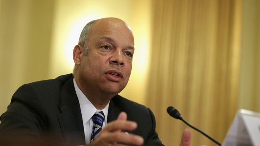U.S. Homeland Security Secretary Jeh Johnson testifies during a hearing before the House Homeland Security Committee February 26, 2014 on Capitol Hill in Washington, DC. (Photo by Alex Wong/Getty Images)
