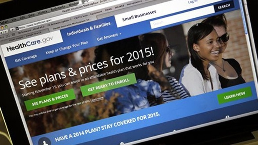 Nov. 12, 2014: In this file photo, the HealthCare.gov website, where people can buy health insurance, is displayed on a laptop screen.