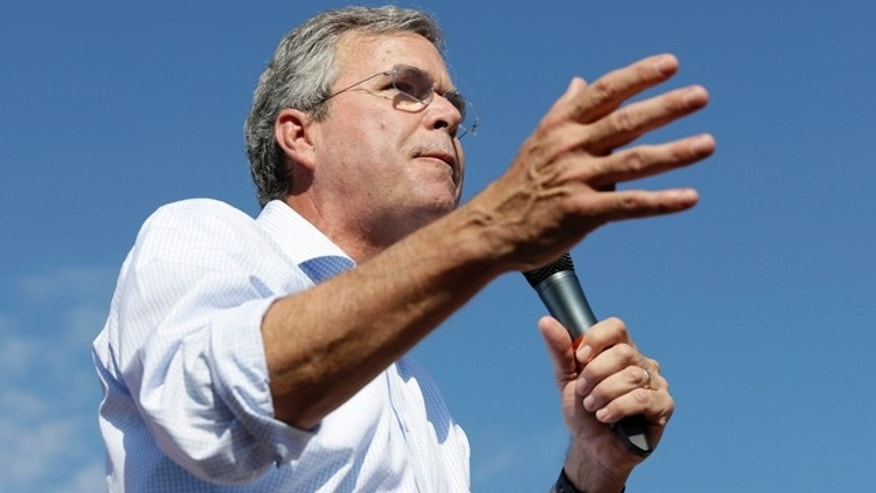 Republican presidential candidate Jeb Bush at the Iowa State Fair in Des Moines on Aug. 14, 2015.