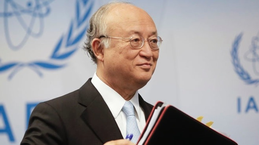 June 8, 2015: International Atomic Energy Agency (IAEA) Director General Yukiya Amano leaves a news conference after a board of governors meeting at the IAEA headquarters in Vienna, Austria. (Reuters)