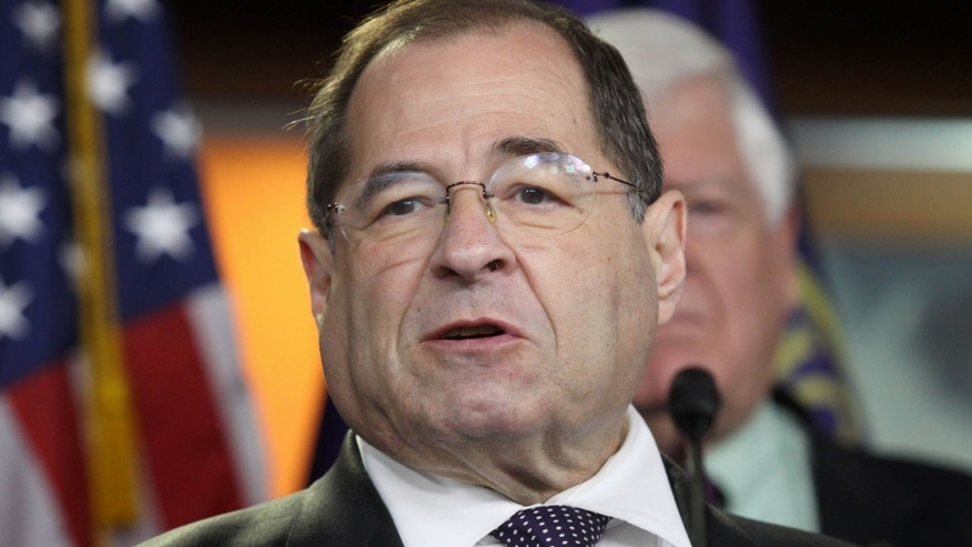 June 16, 2015: Rep. Jerrold Nadler, D-N.Y. speaks during a news conference on Capitol Hill in Washington.