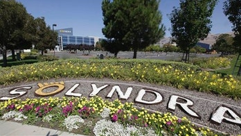 The exterior view of bankrupt Solyndra is seen in Fremont, Calif., Sept. 16.