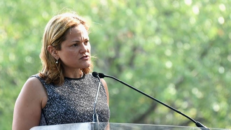 NEW YORK, NY - JULY 29:  Speaker of the New York City Council, Melissa Mark-Viverito speaks at Amnesty International Tapestry Honoring John Lennon Unveiling at Ellis Island on July 29, 2015 in New York City.  (Photo by Jamie McCarthy/Getty Images)