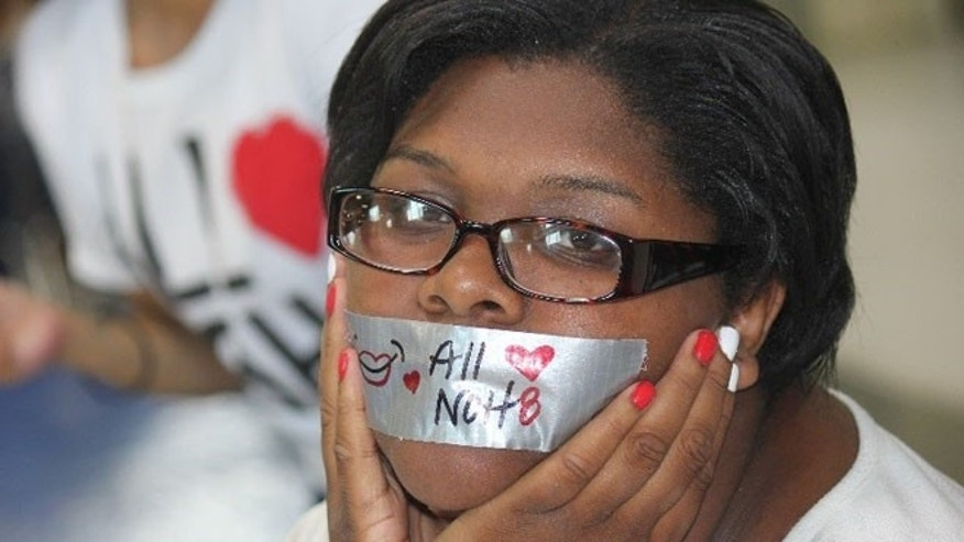 Job Corps Center students participate in the All Love, NOH8 campaign to stand against violence and aggression in their communities. The new Y2Y campaign will be rolled out nationally mid-September in part as an effort to curb violence on Job Corp centers across the country.