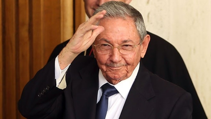 President of Cuba Raúl Castro on May 10, 2015 in Vatican City, Vatican.