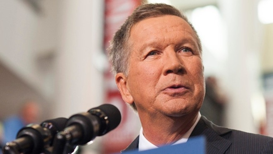 Ohio Governor John Kasich gives his speech announcing his 2016 Presidential candidacy at the Ohio Student Union, at The Ohio State University on July 21, 2015 in Columbus, Ohio. (Photo by Ty Wright/Getty Images)