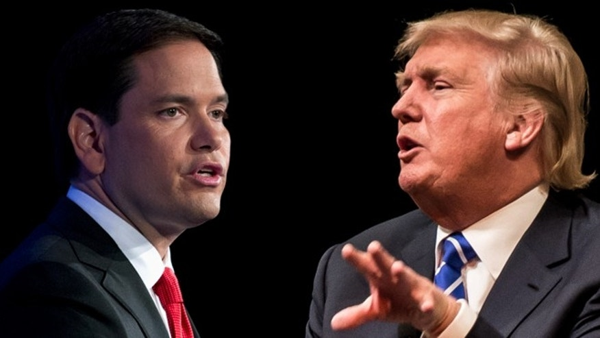 Marco Rubio (left) and Donald Trump. (Photos: Rubio, Associated Press; Trump: Getty Images)