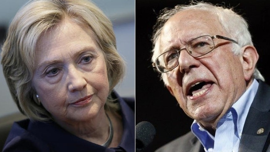 Leadership backs Hillary Clinton's campaign, but many in the rank and file support Vermont sen. Bernie Sanders for president. (AP)