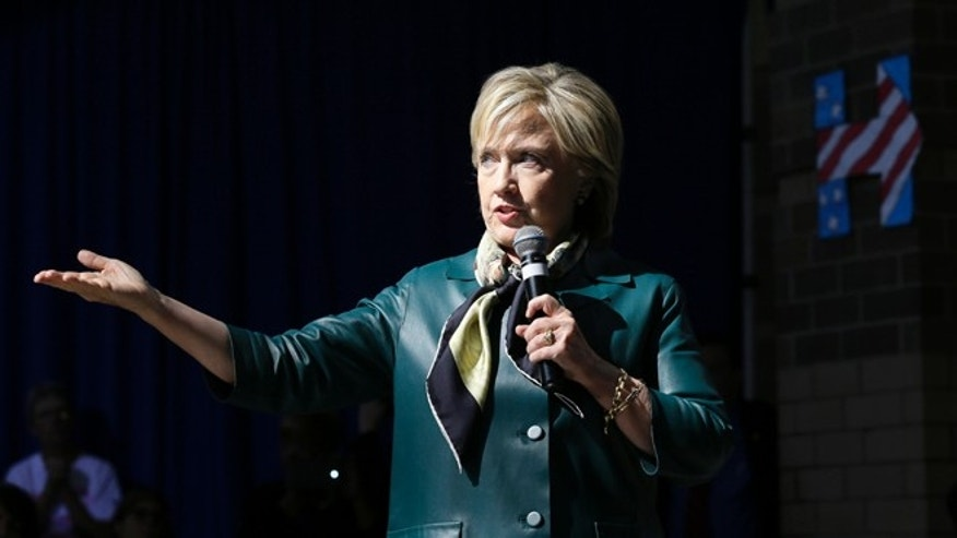 "In this Oct. 6, 2015, photo, Democratic presidential candidate Hillary Rodham Clinton speaks during a community forum in Davenport, Iowa. President Barack Obama seemed to call Clintons idea of a no-fly zone in Syria ""half-baked."" Clinton has described the presidents immigration strategy as ""harsh and aggressive."" And as Obama tries to rally Democrats around the chief economic proposal of his second term, the partys presidential front-runner has stayed conspicuously silent.  (AP Photo/Charlie Neibergall)"