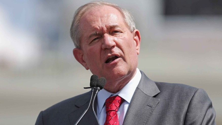 Presidential candidate Jim Gilmore on the West Lawn of the U.S. Capitol September 9, 2015 in Washington, DC.