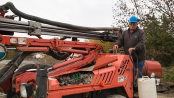 Oct. 9, 2015: Glen Mead operates a line drill machine at a rock quarry, in Montrose, Pa. Mead spent his life working as a dairy farmer and at age 60, began working with Rock Ridge Stone in Montrose, to make ends meet. For just the third time in 40 years, millions of Social Security recipients, disabled veterans and federal retirees can expect no increase in benefits next year, unwelcome news for more than one-fifth of the nation's population. (AP Photo/Brett Carlsen)
