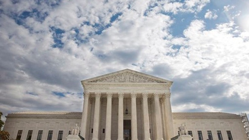 Oct. 13, 2015: This photo shows the Supreme Court in Washington.