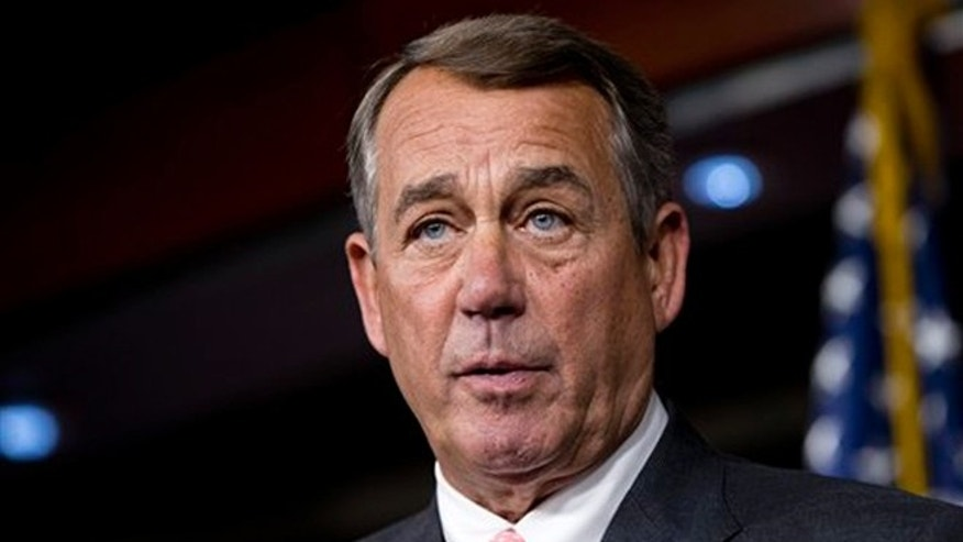 In this photo taken Sept. 25, 2015, House Speaker John Boehner of Ohio speaks during a news conference on Capitol Hill in Washington.  (AP Photo/Jacquelyn Martin)