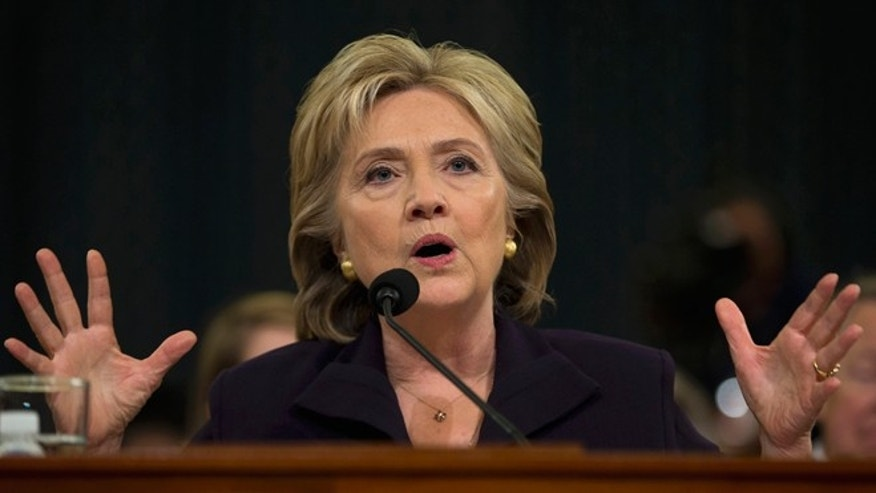 Oct. 22, 2015: Democratic presidential candidate, former Secretary of State Hillary Rodham Clinton testifies on Capitol Hill in Washington before the House Benghazi Committee. (AP)
