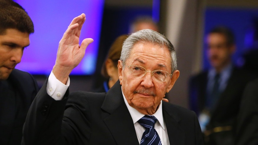 Sept. 28, 2015- Cuba's President Raul Castro arrives for the 70th session of the UN General Assembly at UN headquarters.