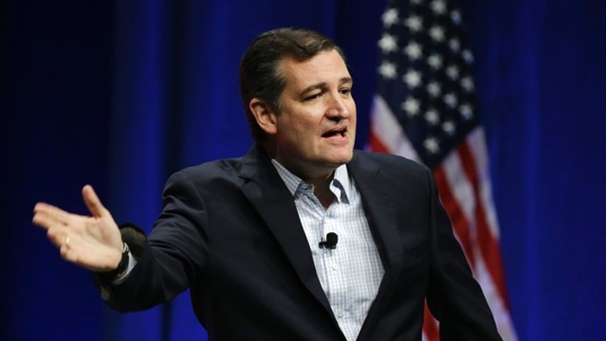 Sen. Ted Cruz addresses the Sunshine Summit in Orlando, Fla., Friday Nov. 13, 2015.