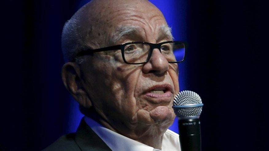 Rupert Murdoch, Executive Chairman of News Corp and 21st Century Fox, takes part as a judge during a global start up showcase at the Wall Street Journal Digital Live (WSJDLive) conference at the Montage hotel in Laguna Beach, California.