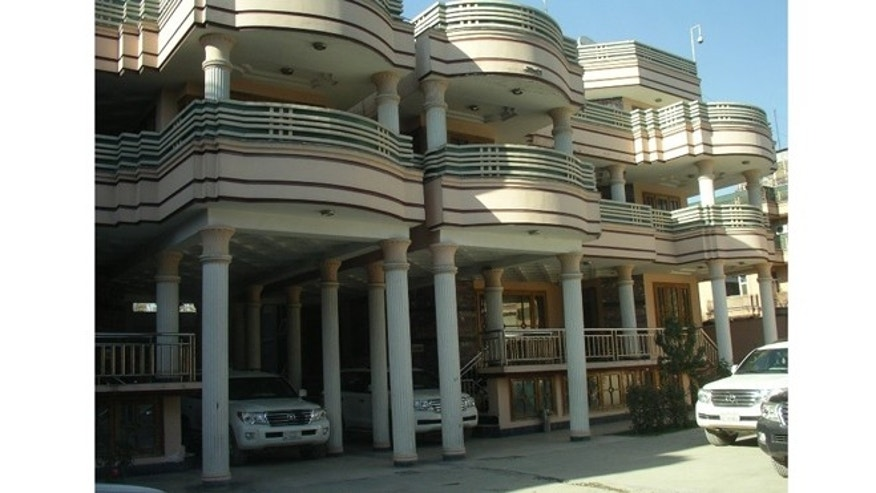 One of the multi-million dollar villas constructed by the Department of Defense's Task Force for Stability and Business Operations (TFBSO) in Afghanistan.