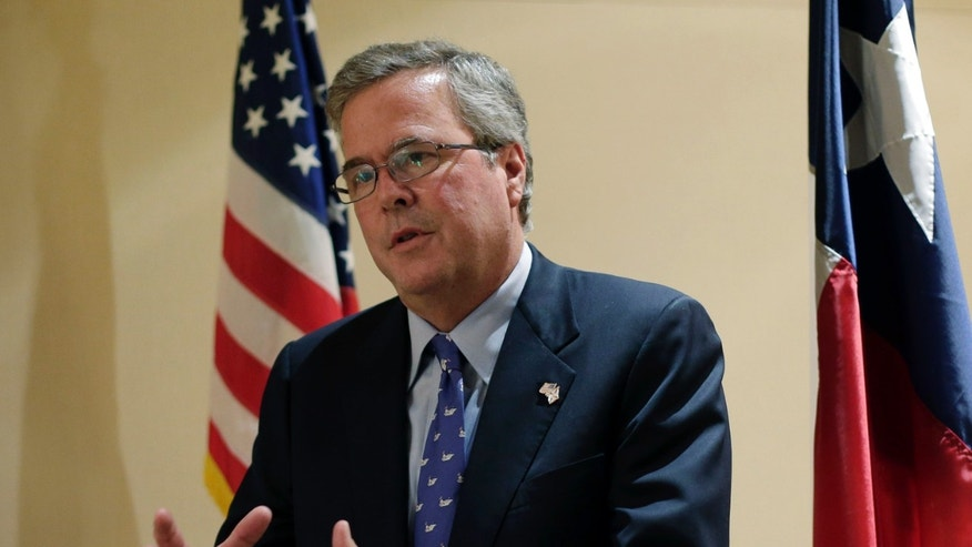 FILE: Feb. 26, 2013: Former Florida Gov. Jeb Bush, R, at a Texas Business Leadership Council event, Austin, Texas.