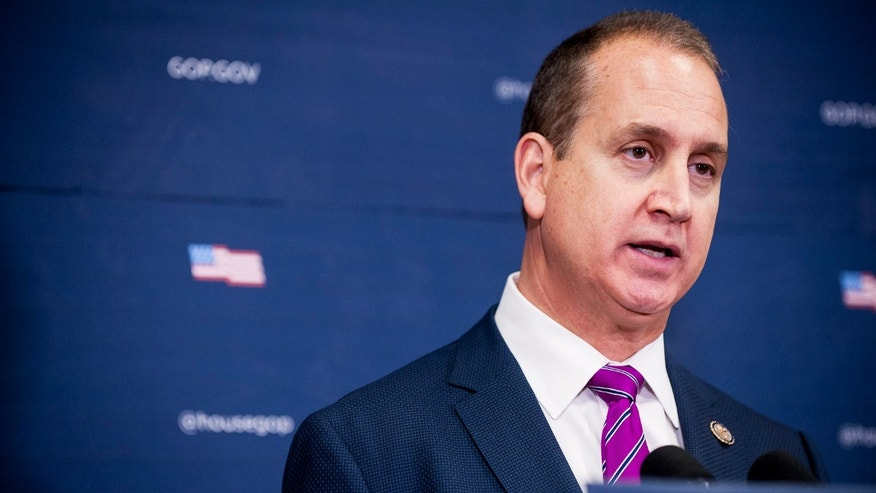 Rep. Mario Diaz -Balart (R-FL) speaks to reporters following the weekly House GOP Conference meeting at the U.S. Capitol on January 12, 2016 in Washington, DC. Rep. Diaz -Balart will give the Spanish response to President Obama's last State of the Union address. (Photo: Pete Marovich/Getty Images)