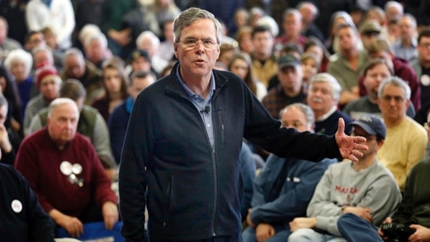 Feb. 6, 2016: Republican presidential candidate former Florida Gov. Jeb Bush at a campaign stop in Bedford, N.H. (AP)