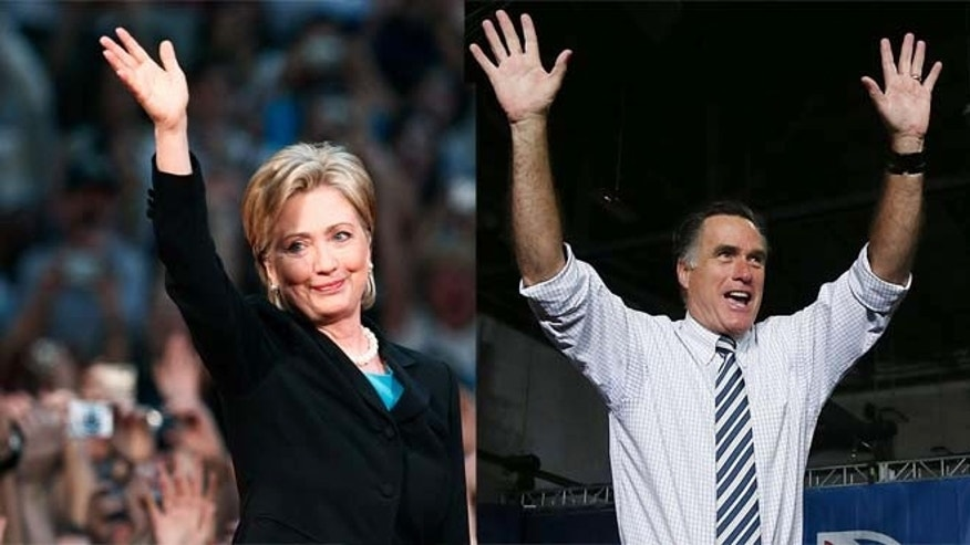 Hillary Clinton (left) and Mitt Romney. (Photos: Getty Images)