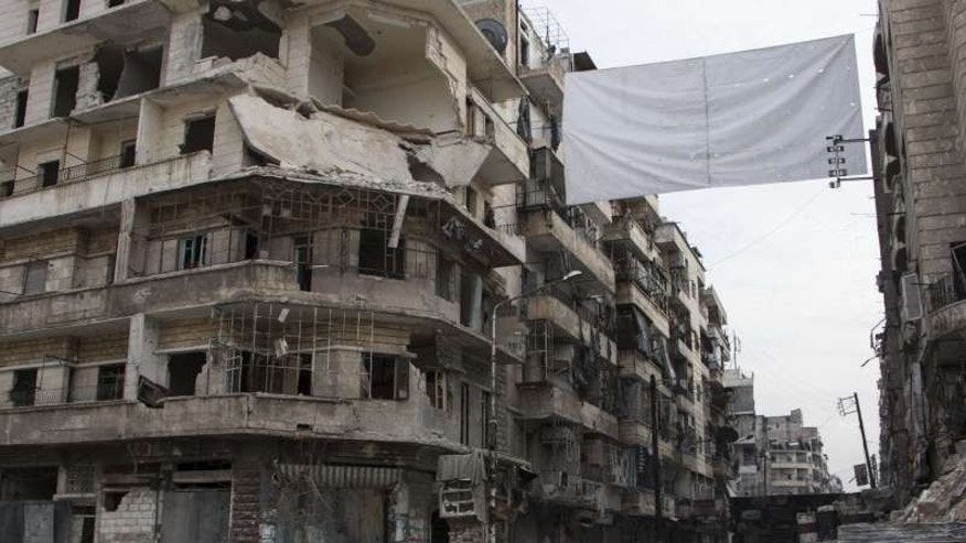 The wartorn Bustan Alqasr district in Aleppo on February 1.