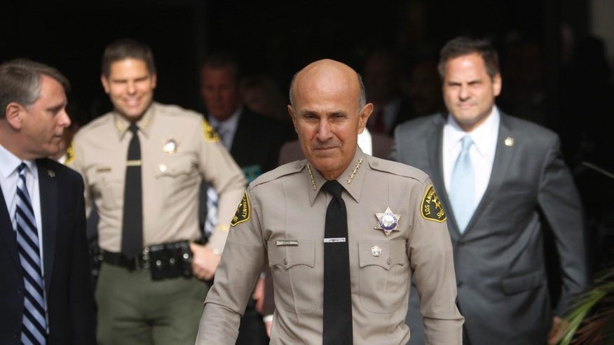 LA County Sheriff Lee Baca on the day he announced his unexpected retirement on January 7, 2014.