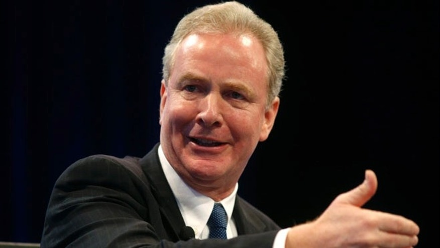 FILE: Dec. 2, 2014: Rep. Chris Van Hollen, D-Md., at the Wall Street Journal's CEO Council meeting in Washington, D.C. (Reuters)