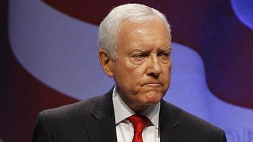 In this Feb. 11 photo, Sen. Orrin Hatch speaks at the Conservative Political Action Conference in Washington.