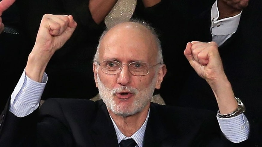 WASHINGTON, DC - JANUARY 20, 2015:  Alan Gross shortly after he was freed from a Cuban prison. (Photo by Rob Carr/Getty Images)