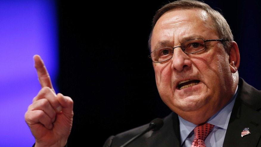Gov. Paul LePage, R-Maine, is shown.