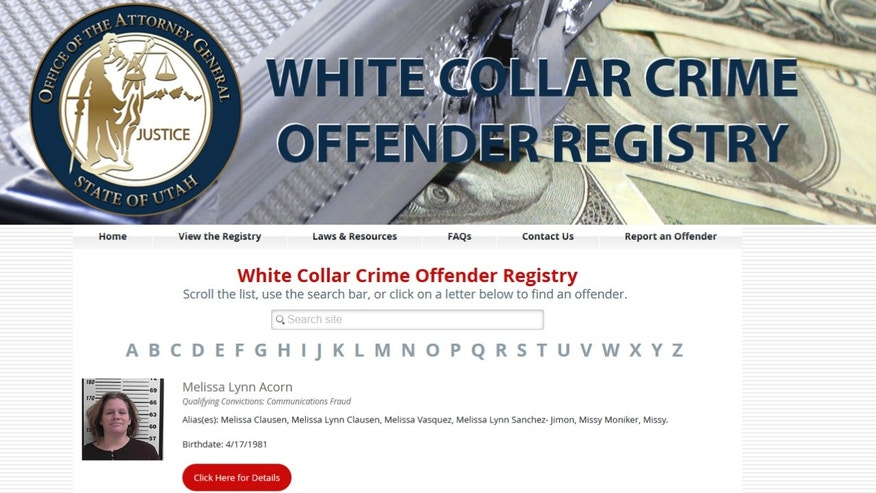 Utah's white-collar crime database is the first of its kind.