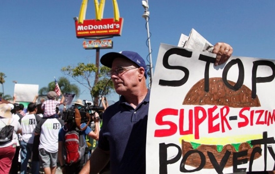 Much of the SEIU spinoff campaign's fight has been waged against fast-food giant McDonald's. (AP)