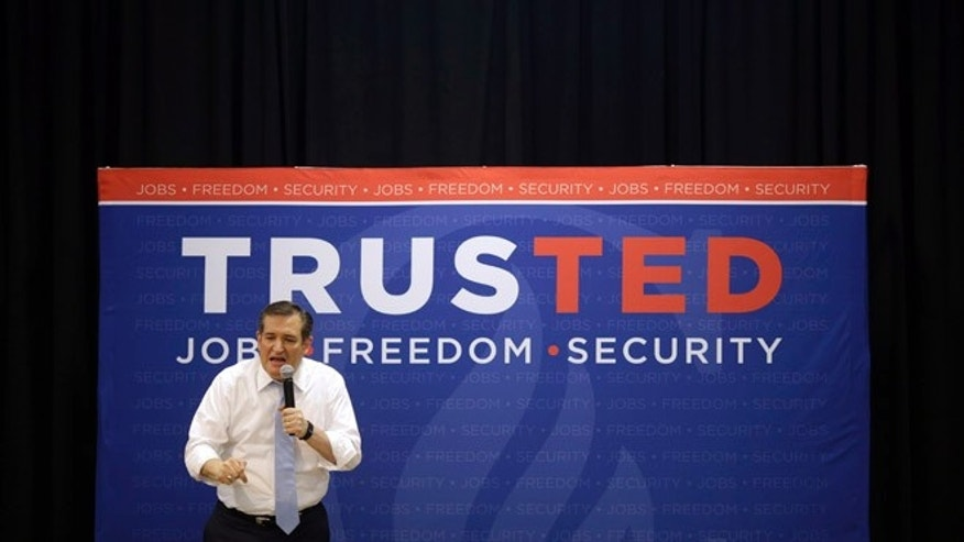Republican presidential candidate Sen. Ted Cruz during a rally in Towson, Md., Monday, April 18, 2016.