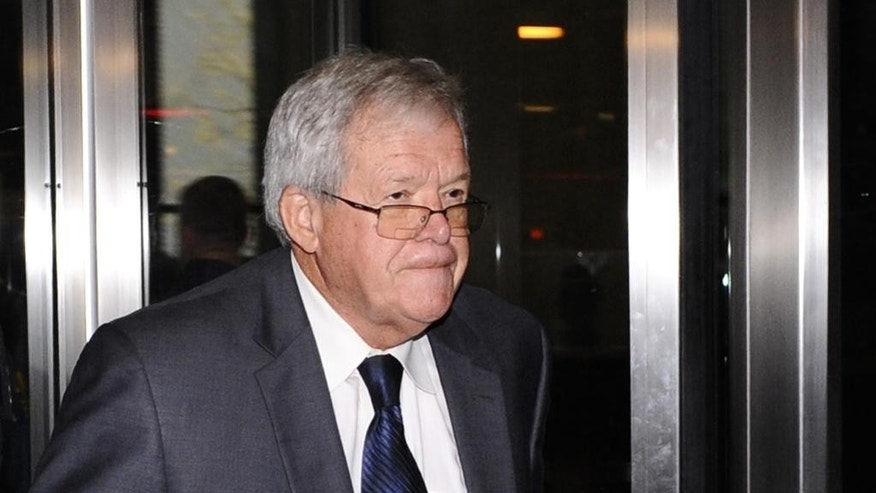 Oct. 28, 2015: Former U.S. House Speaker Dennis Hastert leaves the federal courthouse in Chicago after a hearing in his hush-money case.