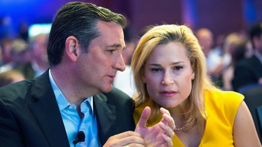 Presidential candidate Sen. Ted Cruz and his wife Heidi Nelson Cruz on August 21, 2015 in Des Moines, Iowa.