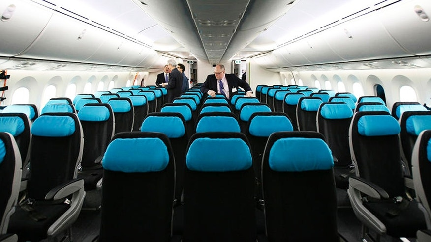 The interior of a Boeing 787.