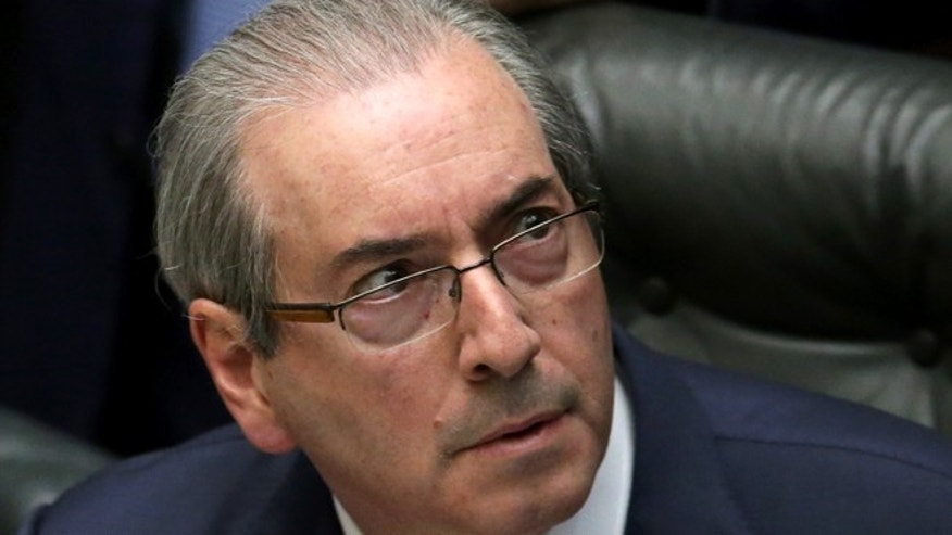 House Speaker Eduardo Cunha at the Chamber of Deputies in Brasilia, Brazil.