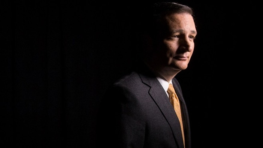 Republican presidential candidate Sen. Ted Cruz, R-Texas, poses for a portrait following an interview with the Associated Press in Washington, Tuesday, Dec. 1, 2015. Cruz outlined an approach to foreign policy inspired by Ronald Reagan, saying he would restore the American leadership missing from the world under President Barack Obama. But pressed on how he would address specific hotspots of today, Cruz places limits on American action, including refusing to back ground troops to combat the Islamic State. (AP Photo/Andrew Harnik)