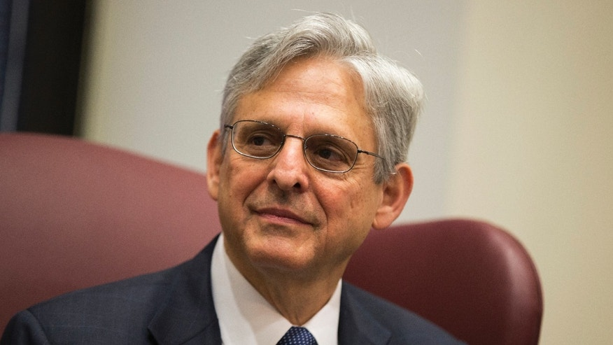 April 28, 2016: Judge Merrick Garland, President Obama's choice to replace the late Justice Antonin Scalia on the Supreme Court meets with Sen. Gary Peters, D-Mich., on Capitol Hill in Washington.