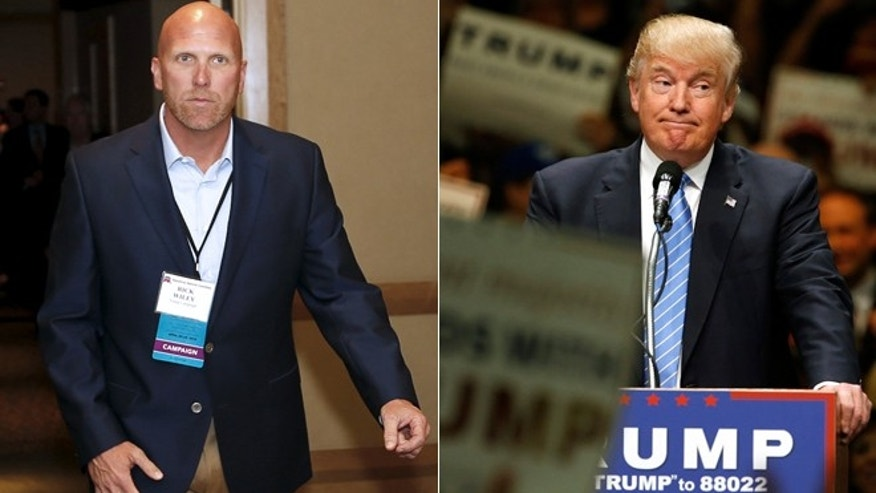 Ricky Wiley (left) has parted ways with the Trump campaign.