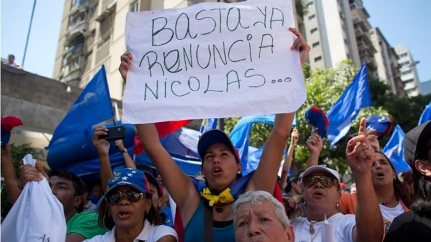 Protesters in Caracas. (Photo: Associated Press)