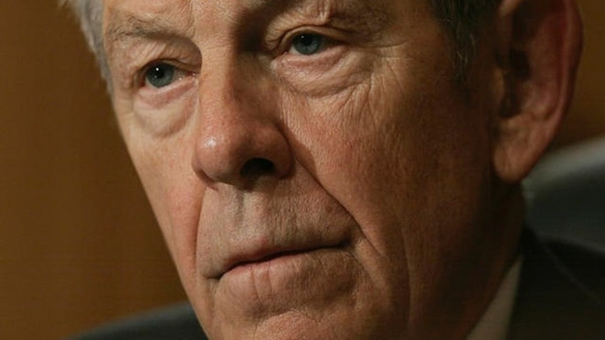 Sen. George Voinovich, R-Ohio, listens to testimony by Andrew Natsios, the special U.S. envoy to Sudan, not pictured, during a Senate Foreign Relations Committee hearing on Capitol Hill in Washington, Wednesday, April 11, 2007. (AP Photo/Charles Dharapak)