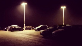 Parked cars in a car park