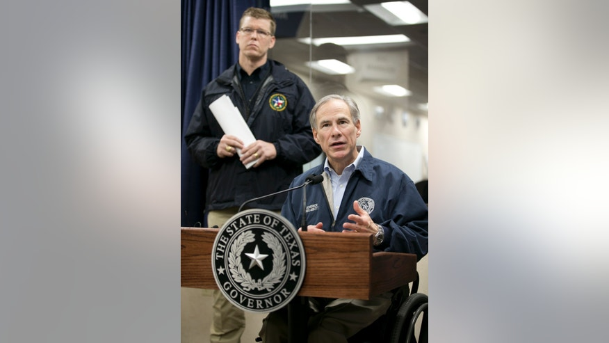 Dec. 27, 2015: Gov. Greg Abbott talks about the severe weather in Texas at the DPS State Operations Center in Austin