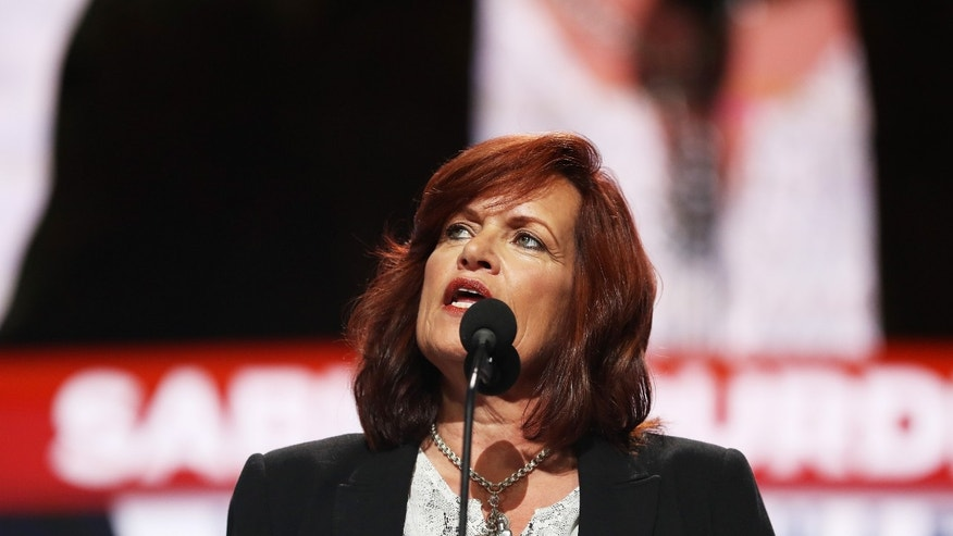 CLEVELAND, OH - JULY 18:  Sabine Durden delivers a speech on the first day of the Republican National Convention on July 18, 2016 at the Quicken Loans Arena in Cleveland, Ohio. An estimated 50,000 people are expected in Cleveland, including hundreds of protesters and members of the media. The four-day Republican National Convention kicks off on July 18.  (Photo by Joe Raedle/Getty Images)
