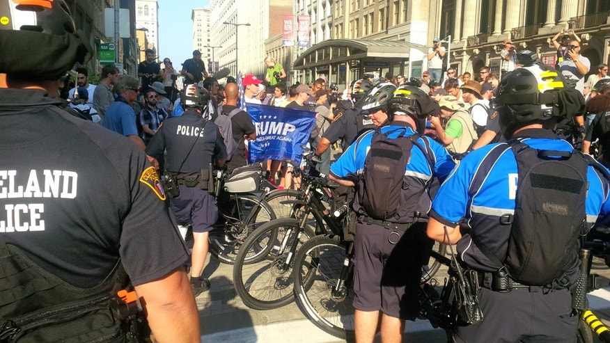 July 19, 2016: Protests outside Republican National Convention. (FoxNews.com)