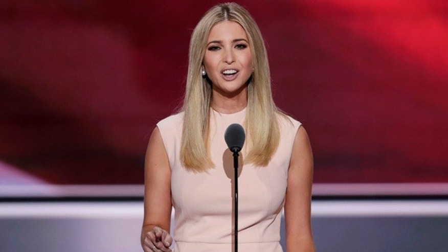 Ivanka Trump, daughter of Republican Presidential Nominee Donald J. Trump, speaks during the final day of the Republican National Convention in Cleveland, Thursday, July 21, 2016. (AP Photo/J. Scott Applewhite)